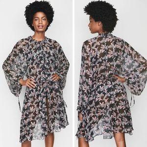 VS Chiffon Duster West Side Floral Kimono Size M/L
